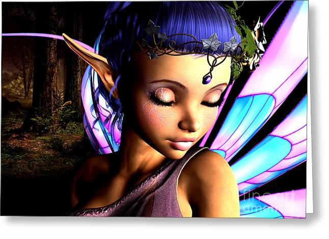 Imps Greeting Cards - Morning Fairy  Greeting Card by Alexander Butler
