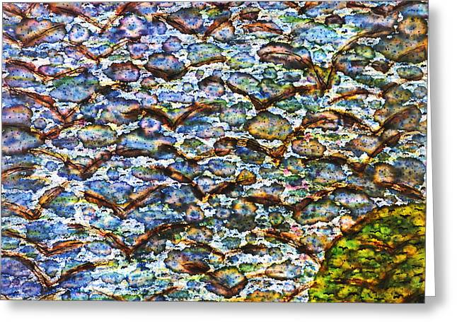 Interior Design Tapestries - Textiles Greeting Cards - Morning Flight Greeting Card by TB Schenck