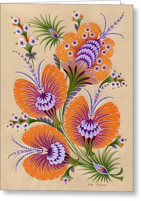 Visual Quality Greeting Cards - Morning flowers Greeting Card by Olena Kulyk