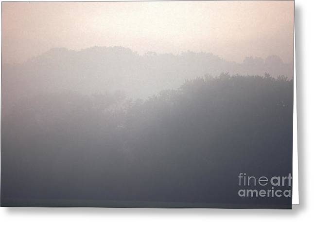 Southern Indiana Photographs Photographs Greeting Cards - Morning Fog and Hills Greeting Card by Lowell Anderson