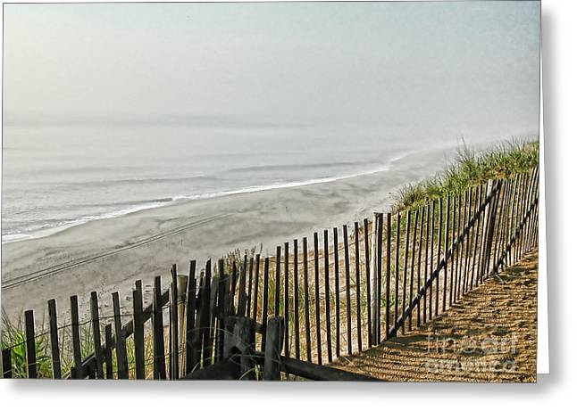 Marconi Beach Greeting Cards - Morning Fog Greeting Card by Edward Sobuta