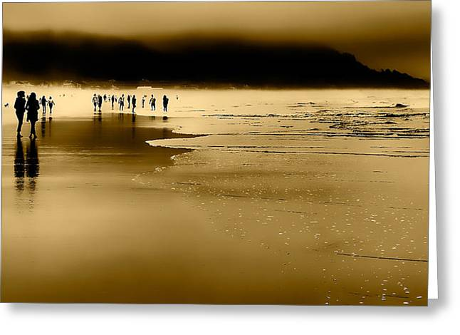Monolith Greeting Cards - Morning Fog on Cannon Beach Greeting Card by David Patterson