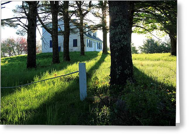 Maine Farmhouse Greeting Cards - My Heart Sings Greeting Card by Laurie Breton
