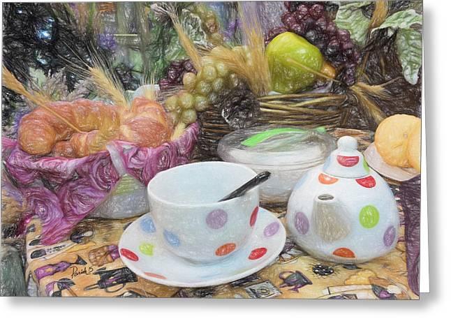Blue Grapes Greeting Cards - Morning Glory Greeting Card by Patti Parish