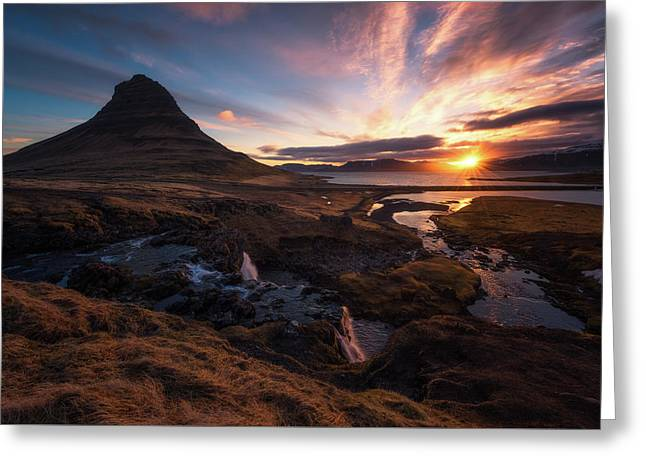 Morning Glory Greeting Card by Tor-Ivar Naess