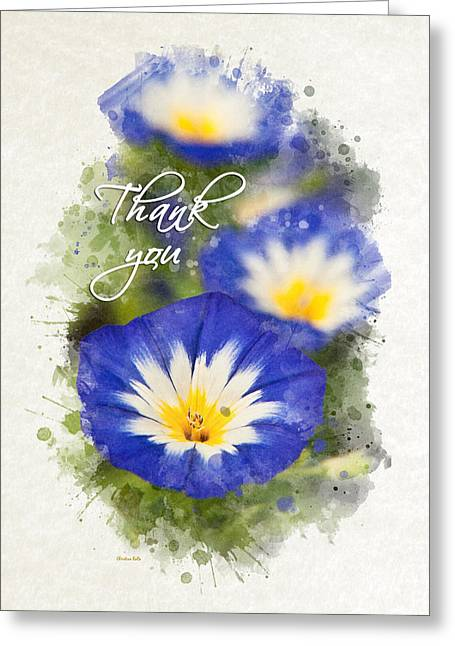 Inside You Greeting Cards - Morning Glory Watercolor Thank You Card Greeting Card by Christina Rollo