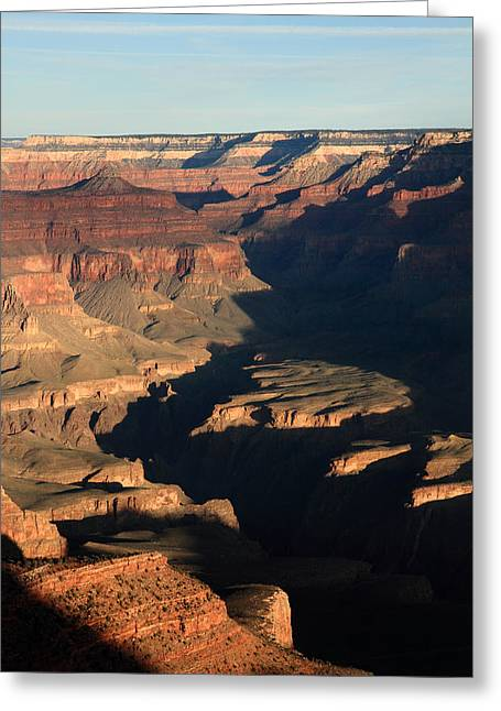 The Grand Canyon Greeting Cards - Morning glow in the Grand Canyon Greeting Card by Pierre Leclerc Photography