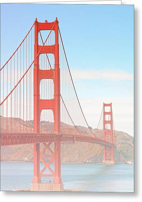 Twin Towers Greeting Cards - Morning has broken - Golden Gate Bridge San Francisco Greeting Card by Christine Till