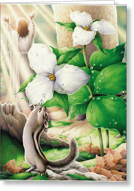Morning Has Broken Greeting Card by Amy S Turner