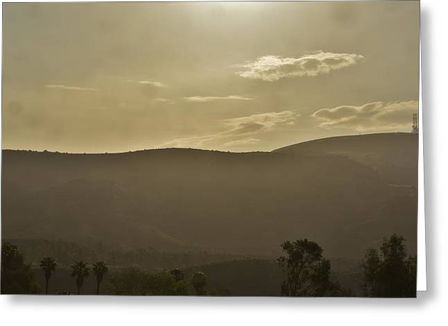 Sunrise Over California Greeting Cards - Morning Haze Greeting Card by Linda Brody