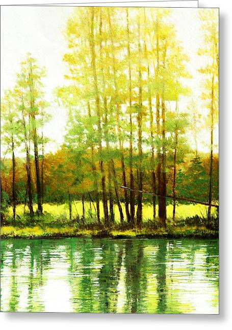 Morning Haze Greeting Card by Mark Henthorn