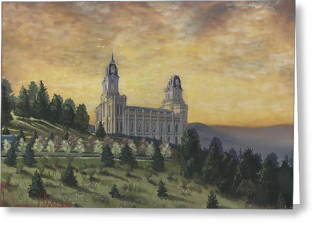May Morning Greeting Cards - Morning he came again into the Temple Greeting Card by Jeff Brimley
