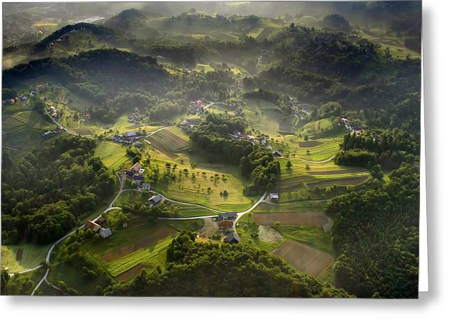 Mornings Greeting Cards - Morning In May Greeting Card by Matjaz Cater