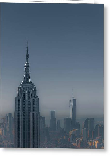 Top Of The Rock Greeting Cards - Morning in New York Greeting Card by Chris Fletcher