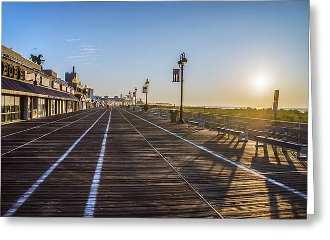 Bill Cannon Photography Greeting Cards - Morning in Ocean City New Jersey Greeting Card by Bill Cannon