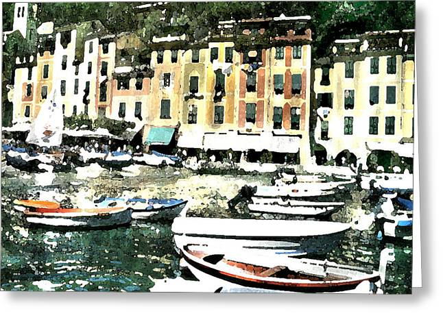 Morning In Portofino Greeting Card by Donna Corless