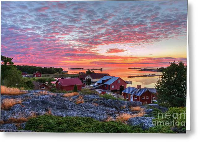 Morning In The Archipelago Sea Greeting Card by Veikko Suikkanen