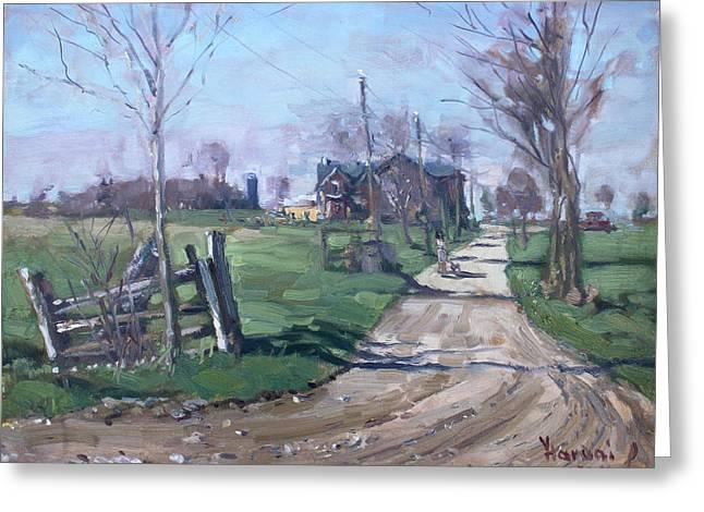 Morning In The Farm Georgetown Greeting Card by Ylli Haruni