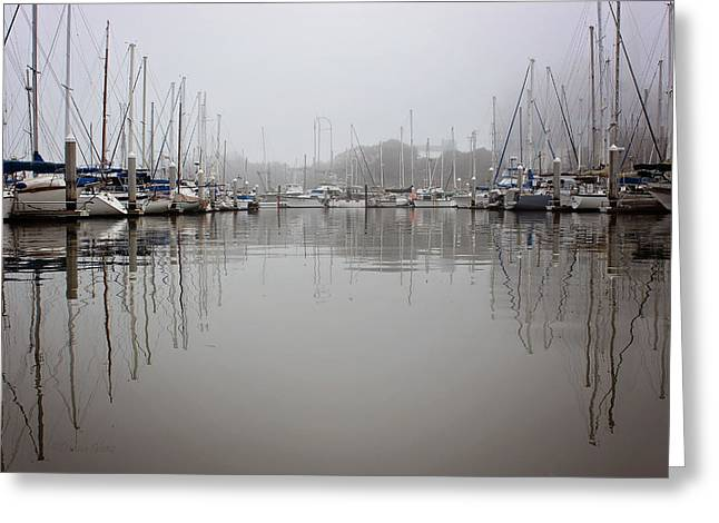 California Beaches Greeting Cards - Morning in the Harbor Greeting Card by Deana Glenz
