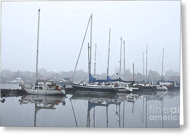 Sailing Boat Greeting Cards - Morning in the harbor Greeting Card by Stefan Kuhn