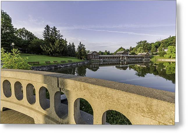 Bathhouse Greeting Cards - Morning in the Park Greeting Card by Everet Regal