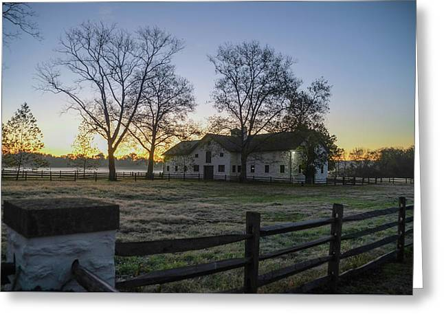 Morning In Whitemarsh Pa Greeting Card by Bill Cannon