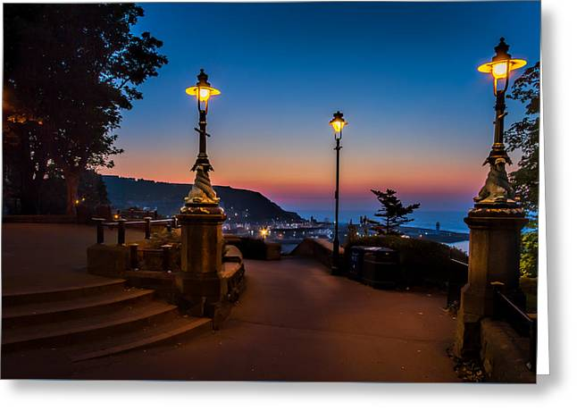 Recently Sold -  - North Sea Greeting Cards - Morning lamplight.. Greeting Card by Cliff Miller