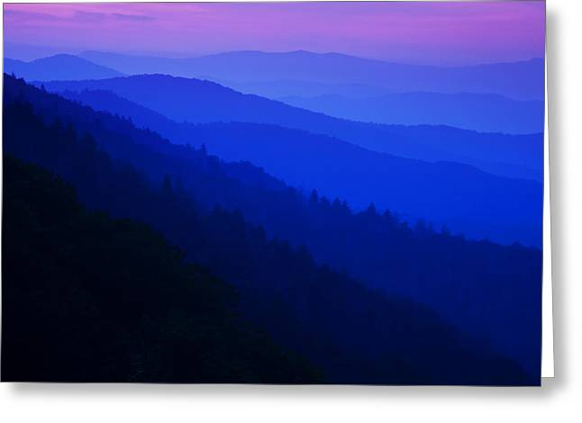Blue Ridge Mountains Greeting Cards - Morning Light Greeting Card by Andrew Soundarajan