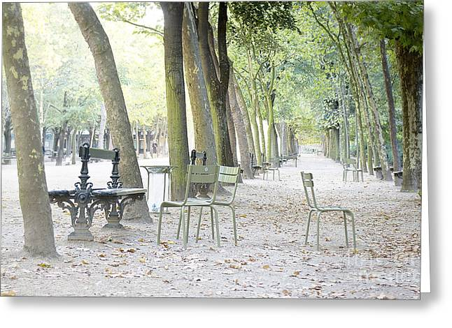 Greeting Cards - Morning light at Jardin du Luxembourg Greeting Card by Ivy Ho