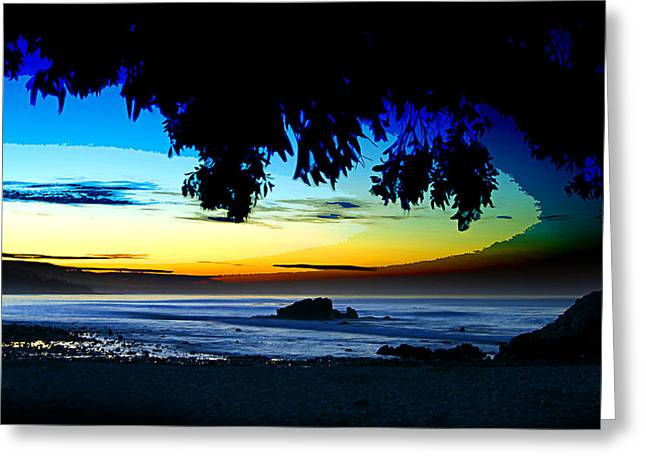 Long Boards Greeting Cards - Morning Light at Leo Carrillo Greeting Card by Ron Regalado