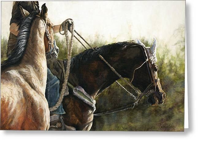 Morning Light Greeting Card by Leisa Temple