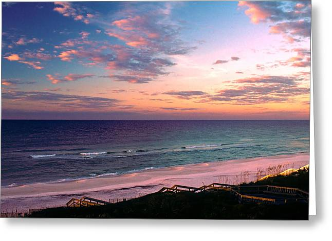 Sea Oats Greeting Cards - Morning Light on Rosemary Beach Greeting Card by Marie Hicks