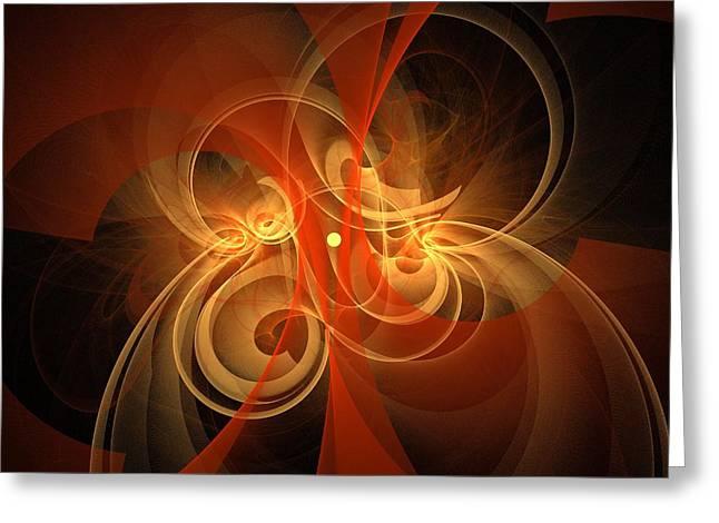 Digital Art Design Greeting Cards - Morning Magic Greeting Card by Oni H