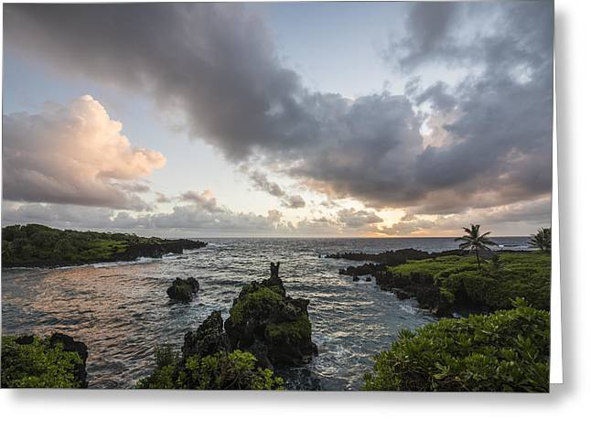 Morning Maui Colors Greeting Card by Jon Glaser