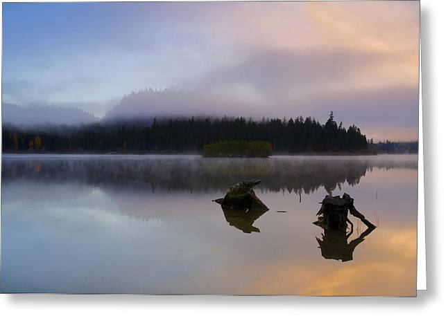 Morning Mist Burning Greeting Card by Mike  Dawson