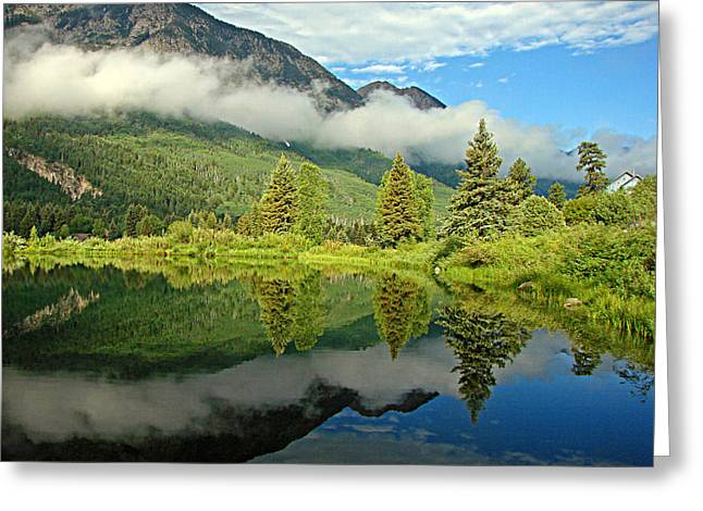 Marble Colorado Greeting Cards - Morning Mist Greeting Card by Diana Douglass