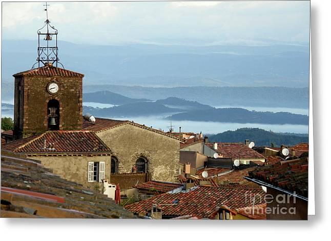 Lainie Wrightson Digital Greeting Cards - Morning Mist in Provence Greeting Card by Lainie Wrightson