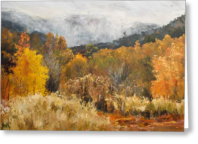 Southern Utah Greeting Cards - Morning Mist Greeting Card by Kit Hevron Mahoney