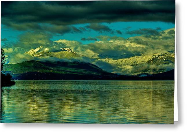 Olympic Mountains Greeting Cards - Morning Olympics Greeting Card by Dale Stillman