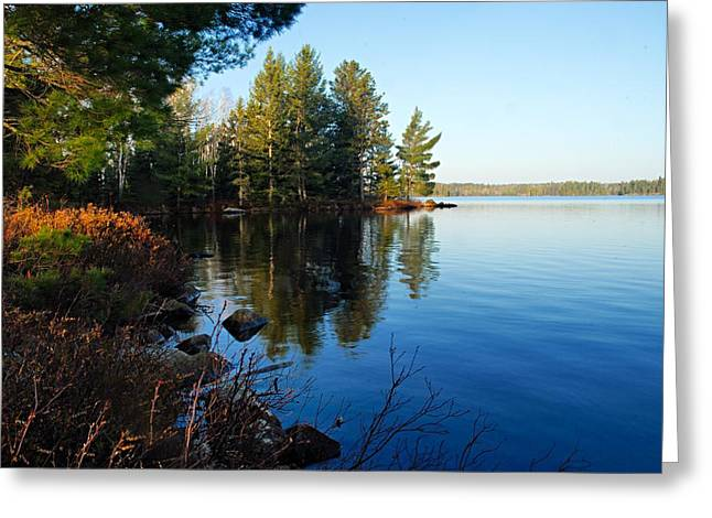 Boundary Waters Greeting Cards - Morning on Chad Lake 3 Greeting Card by Larry Ricker