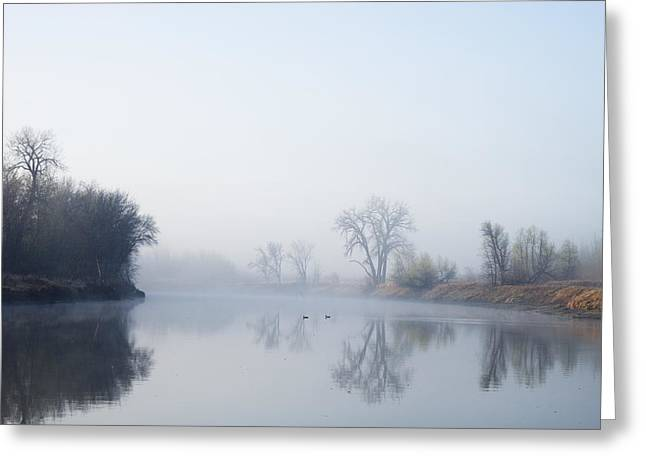 Erickson Greeting Cards - Morning on Red River Greeting Card by Donald  Erickson