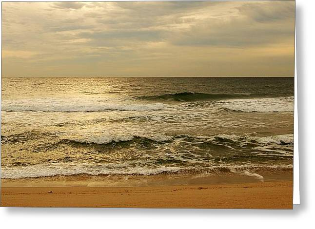 Peaceful Greeting Cards - Morning On The Beach - Jersey Shore Greeting Card by Angie Tirado