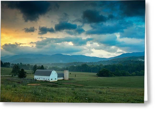 Morning On The Farm Greeting Card by Joye Ardyn Durham