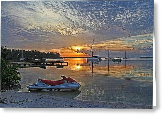 Ski Art Greeting Cards - Morning Peace - Florida Sunrise Greeting Card by HH Photography of Florida