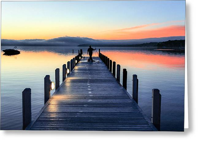 Morning Pier Greeting Card by Todd Klassy
