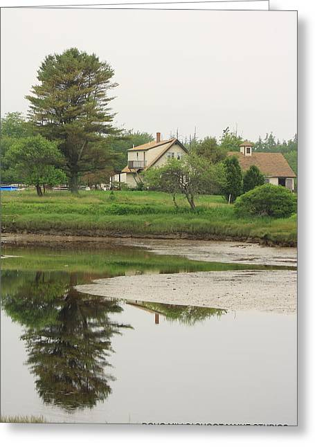 Maine Farms Greeting Cards - Morning Reflection Greeting Card by Doug Mills