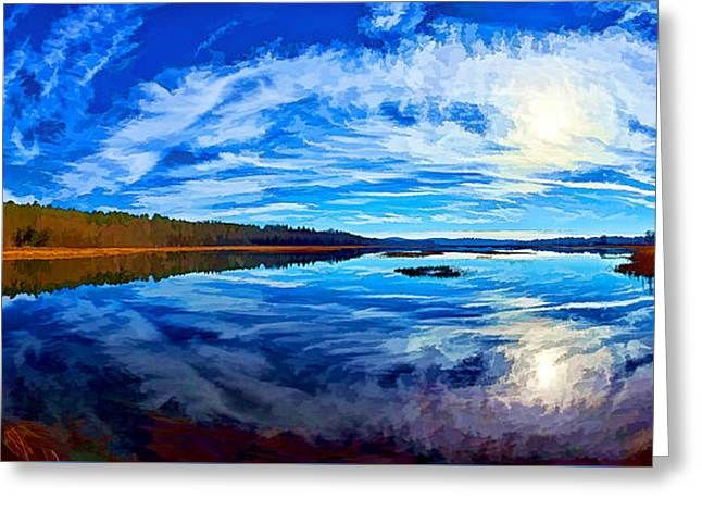 Natural Beauty Digital Greeting Cards - Morning Reflections at the Moosehorn Greeting Card by Bill Caldwell -        ABeautifulSky Photography
