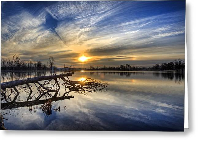 Pearson Greeting Cards - Morning Reflections Greeting Card by Jim Pearson