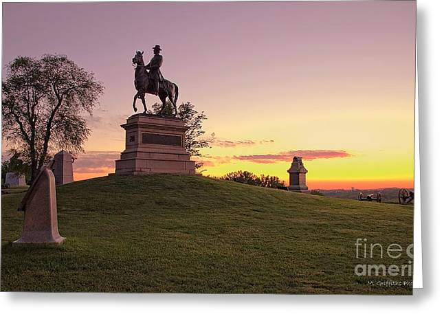 Confederate Monument Greeting Cards - Morning Rider Greeting Card by Mike Griffiths