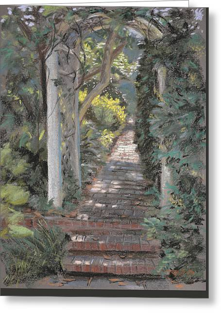 Brick Pastels Greeting Cards - Morning Shade Greeting Card by Christopher Reid